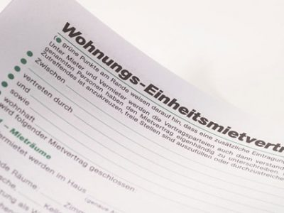 Gebühr für Wohnungsmietverträge abgeschafft